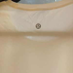 White lululemon t-shirt